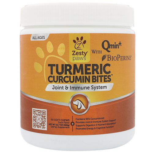 Zesty Paws, Turmeric, Curcumin Bites For Dogs, Joint & Immune Support, All Ages, Duck Flavor, 90 Soft Chews Review