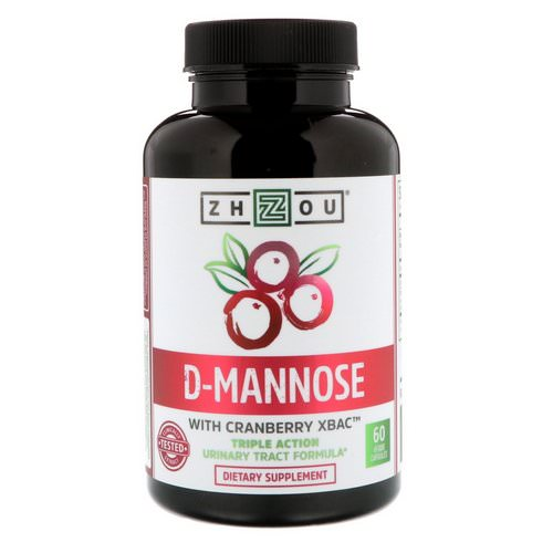Zhou Nutrition, D-Mannose with Cranberry Xbac, 60 Vegetarian Capsules Review