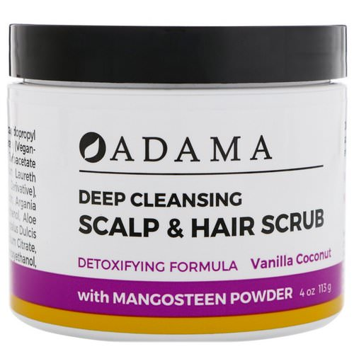 Zion Health, Adama, Deep Cleansing Scalp & Hair Scrub, Vanilla Coconut, 4 oz (113 g) Review