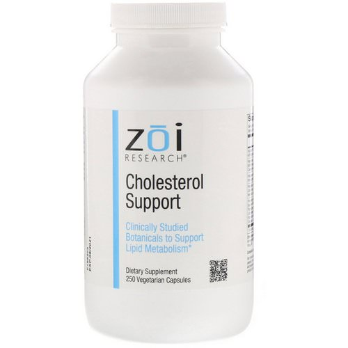 ZOI Research, Cholesterol Support, 250 Vegetarian Capsules Review