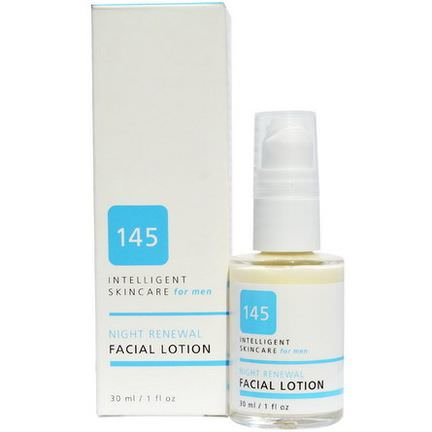 145 Intelligent Skincare for Men, Night Renewal Facial Lotion, By Earth Science 30ml