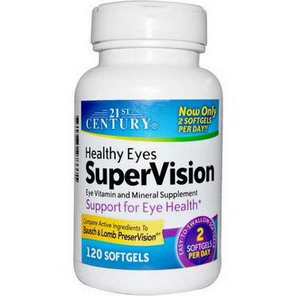 21st Century Health Care, Healthy Eyes SuperVision, 120 Softgels