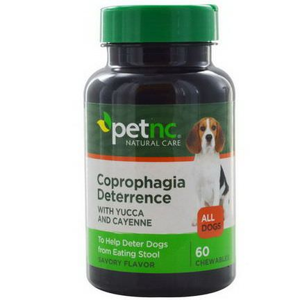 21st Century Health Care, Pet Natural Care, Coprophagia Deterrence, Savory Flavor, 60 Chewables