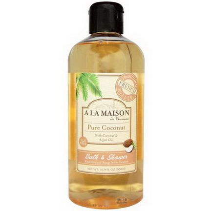A La Maison de Provence, Bath and Shower Liquid Soap, Pure Coconut 500ml