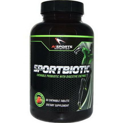 AI Sports Nutrition Anabolic Innovations, Sportbiotic, Strawberry Flavor, 60 Chewable Tablets