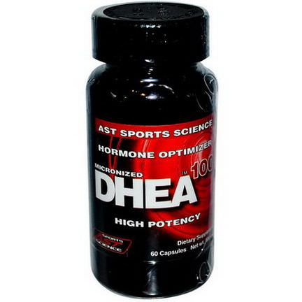 AST Sports Science, DHEA 100, Micronized, 100mg, 60 Capsules