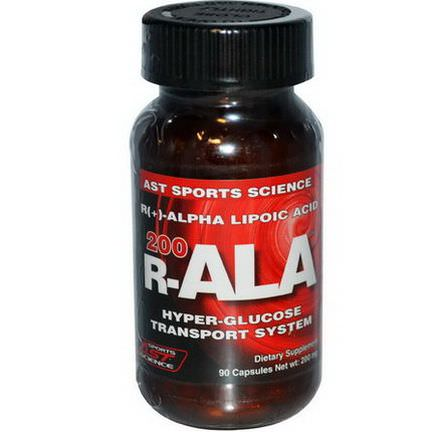 AST Sports Science, R-ALA 200, 200mg, 90 Capsules