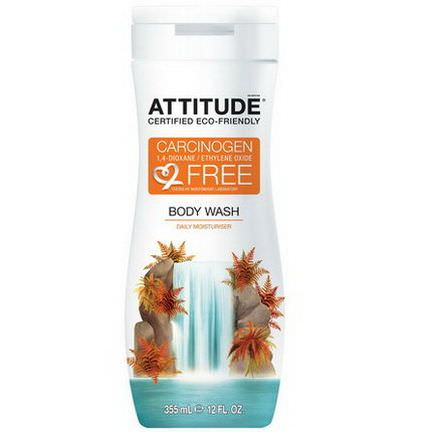 ATTITUDE, Body Wash, Daily Moisturizer 355ml