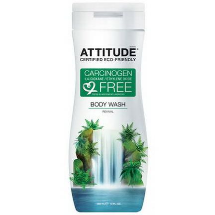 ATTITUDE, Body Wash, Revival 355ml