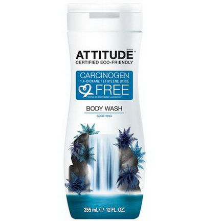 ATTITUDE, Body Wash, Soothing 355ml