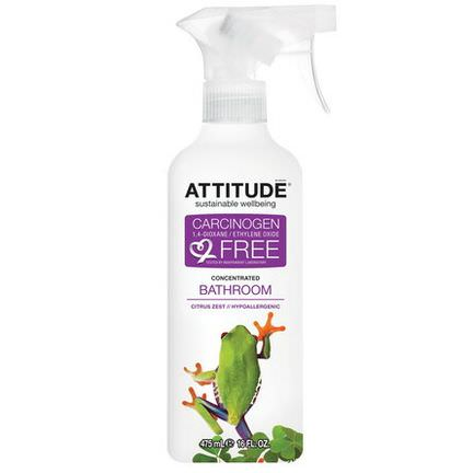 ATTITUDE, Concentrated Bathroom Cleaner, Citrus Zest 475ml