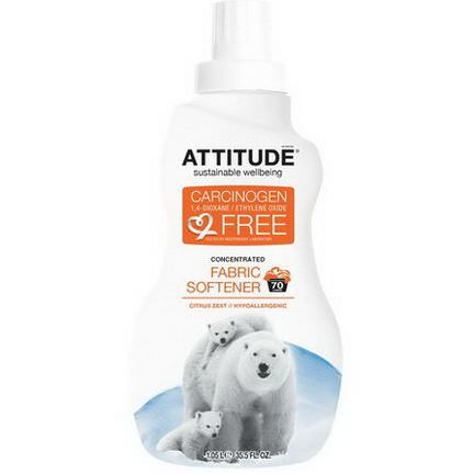 ATTITUDE, Concentrated Fabric Softener, Citrus Zest, 70 Loads 1.05 l