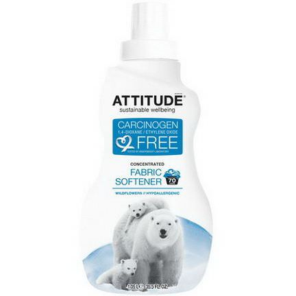 ATTITUDE, Concentrated, Fabric Softener, Wildflowers, 70 Loads 1.05 L