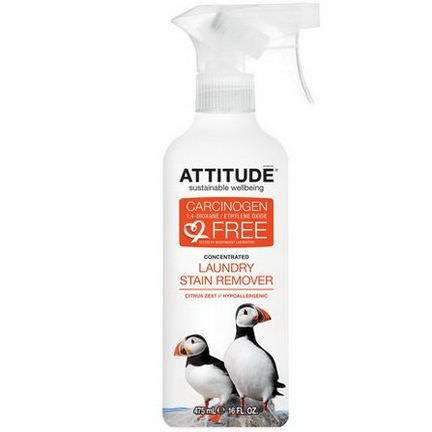 ATTITUDE, Concentrated, Laundry Stain Remover, Citus Zest 475ml