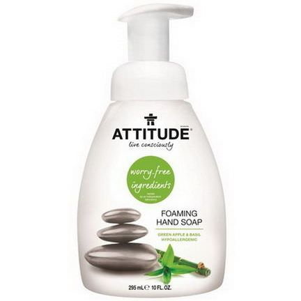 ATTITUDE, Foaming Hand Soap, Green Apple&Basil 295ml