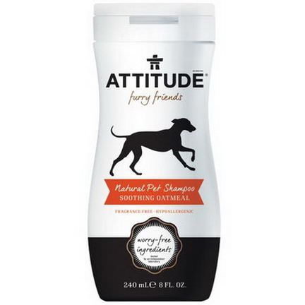 ATTITUDE, Furry Friends, Natural Pet Shampoo, Soothing Oatmeal 240ml