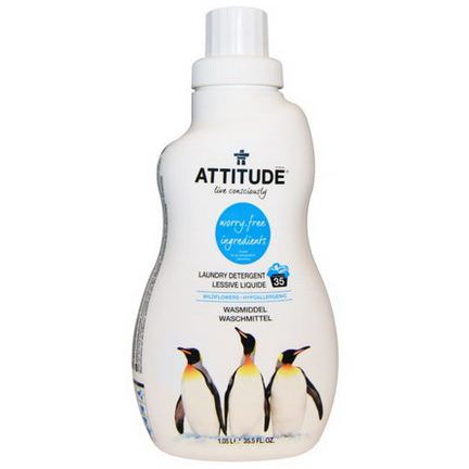 ATTITUDE, Laundry Detergent, Wildflowers 1.05 l