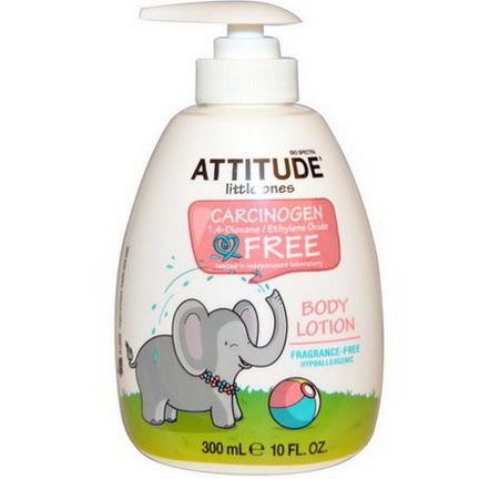 ATTITUDE, Little Ones, Body Lotion, Fragrance-Free 300ml