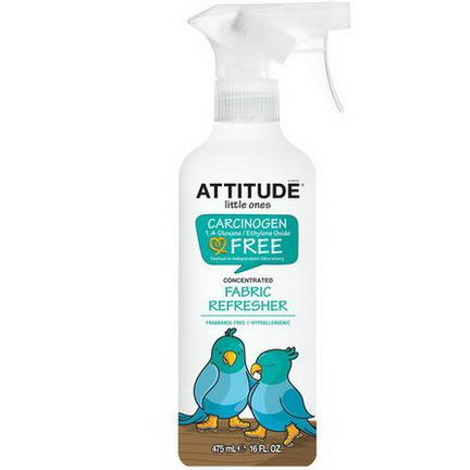 ATTITUDE, Little Ones, Concentrated Fabric Refresher, Fragrance Free 475ml