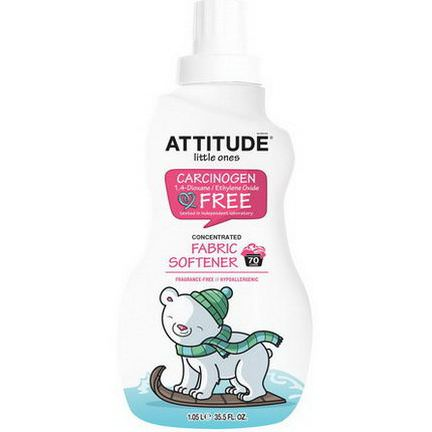 ATTITUDE, Little Ones, Concentrated Fabric Softener, Fragrance-Free, 70 Loads 1.05 L