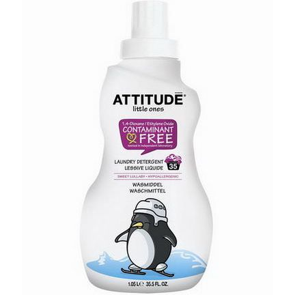 ATTITUDE, Little Ones, Laundry Detergent, Sweet Lullaby, 35 Loads 1.05 L
