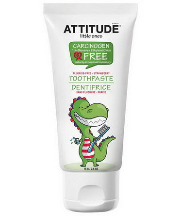ATTITUDE, Little Ones, Toothpaste, Fluoride Free, Strawberry 75g