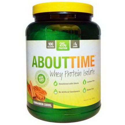 About Time, Whey Protein Isolate, Cinnamon Swirl 908g
