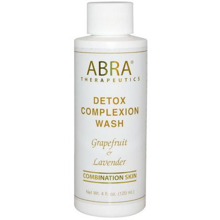 Abra Therapeutics, Detox Complexion Wash, Grapefruit&Lavender 120ml