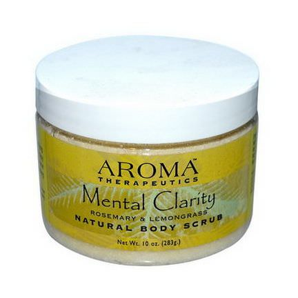 Abra Therapeutics, Natural Body Scrub, Mental Clarity, Rosemary&Lemongrass 283g