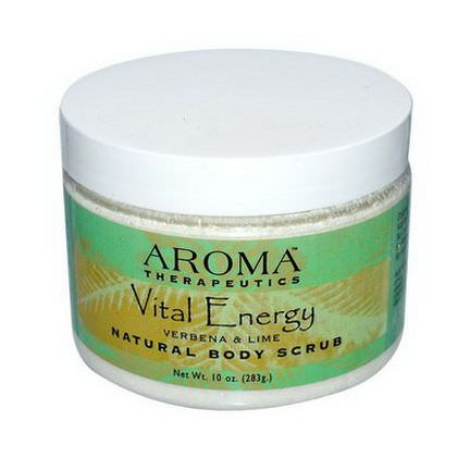 Abra Therapeutics, Natural Body Scrub, Vital Energy, Verbena&Lime 283g