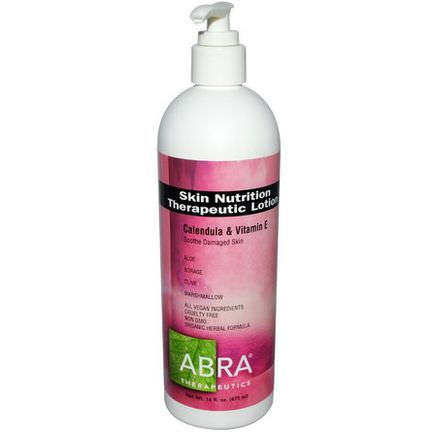 Abra Therapeutics, Skin Nutrition Therapeutic Lotion, Calendula&Vitamin E 475ml
