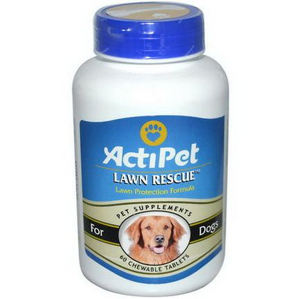 Actipet, Lawn Rescue, For Dogs, 60 Chewable Tablets