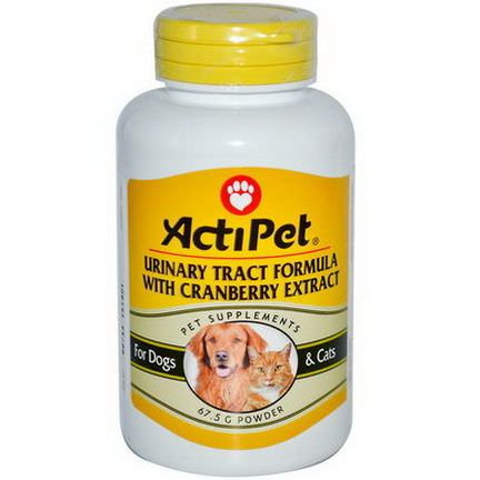 Actipet, Urinary Tract Formula With Cranberry Extract, For Dogs&Cats, 67.5g, Powder