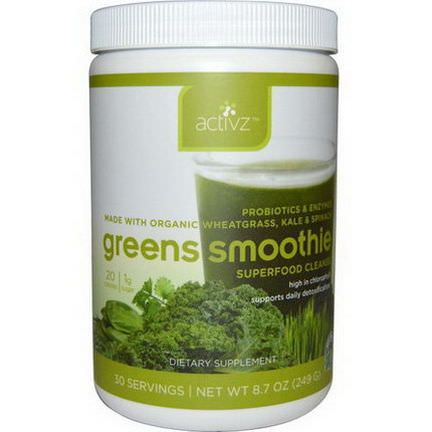 Activz, Greens Smoothie, Superfood Cleanse 249g