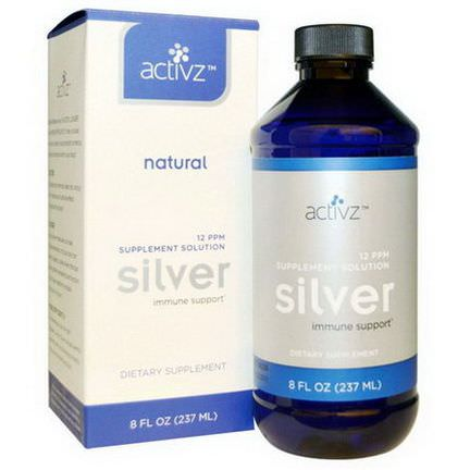 Activz, Silver, 12 PPM Supplement Solution 237ml