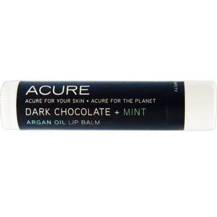 Acure Organics, Argan Oil Lip Balm, Dark Chocolate Mint 4.25g