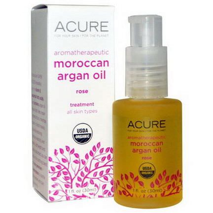 Acure Organics, Aromatherapeutic Moroccan Argan Oil, Rose 30ml