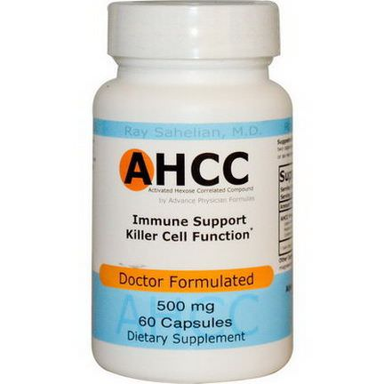 Advance Physician Formulas Activated Hexose Correlated Compound, 500mg, 60 Capsules