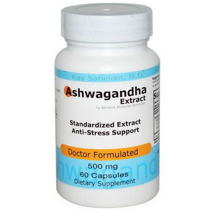Advance Physician Formulas, Inc. Ashwagandha Extract, 500mg, 60 Capsules