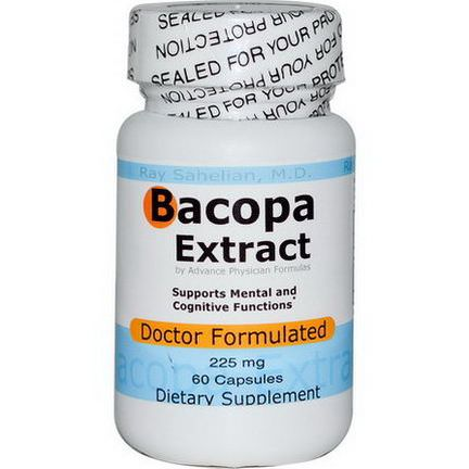 Advance Physician Formulas, Inc. Bacopa Extract, 225mg, 60 Capsules