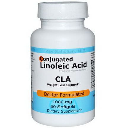 Advance Physician Formulas, Inc. CLA, Conjugated Linoleic Acid, 1000mg, 50 Softgels