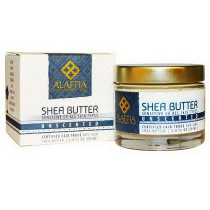 Alaffia, Shea Butter, Unscented 59ml
