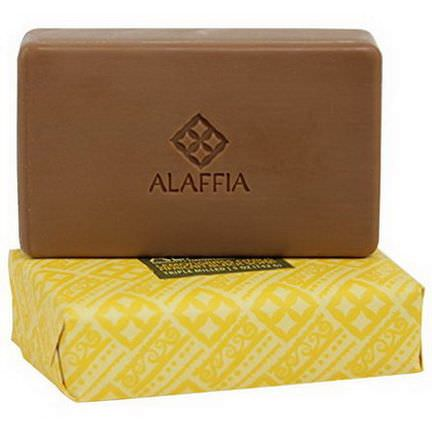 Alaffia, Triple Milled African Black Soap, Lemongrass Citrus 142g