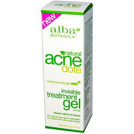 Alba Botanica, Acne Dote, Invisible Treatment Gel, Oil-Free 14g
