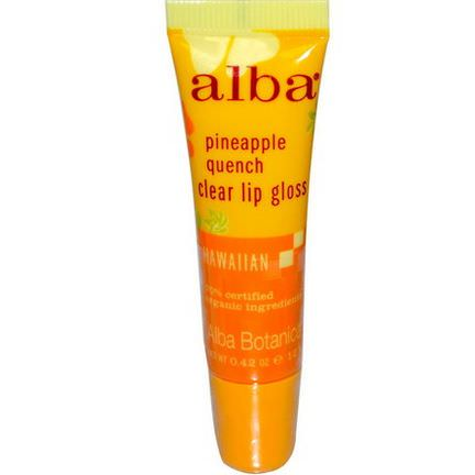 Alba Botanica, Clear Lip Gloss, Pineapple Quench 12g