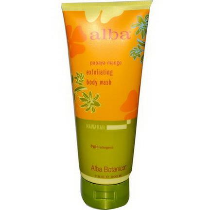 Alba Botanica, Exfoliating Body Wash, Papaya Mango 200ml