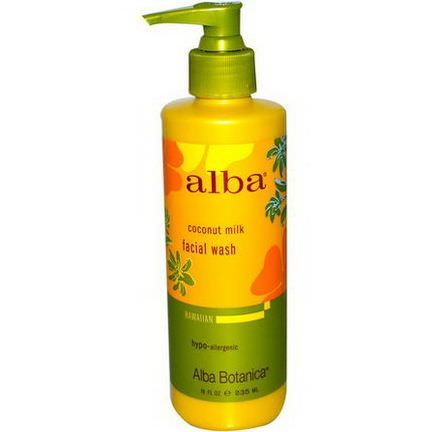 Alba Botanica, Facial Wash, Coconut Milk 235ml
