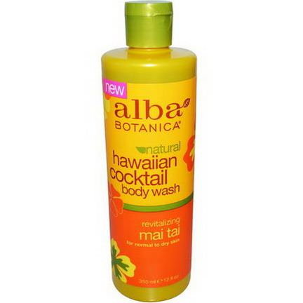 Alba Botanica, Hawaiian Cocktail Body Wash, Revitalizing Mai Tai 355ml