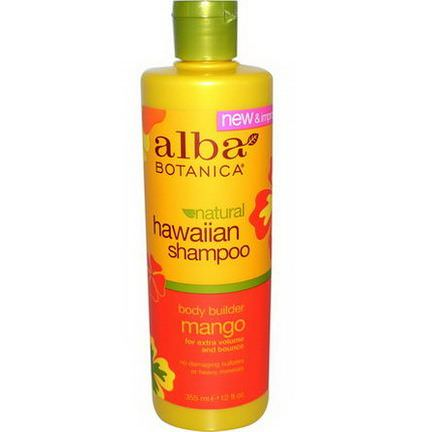 Alba Botanica, Hawaiian Shampoo, Body Builder Mango 355ml