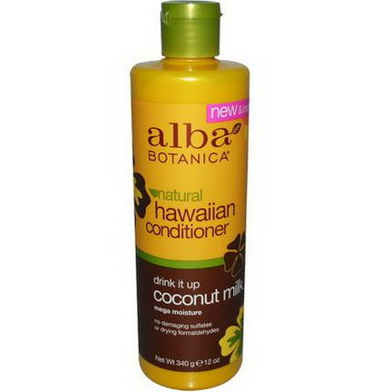 Alba Botanica, Natural Hawaiian Conditioner, Drink It up Coconut Milk 340g
